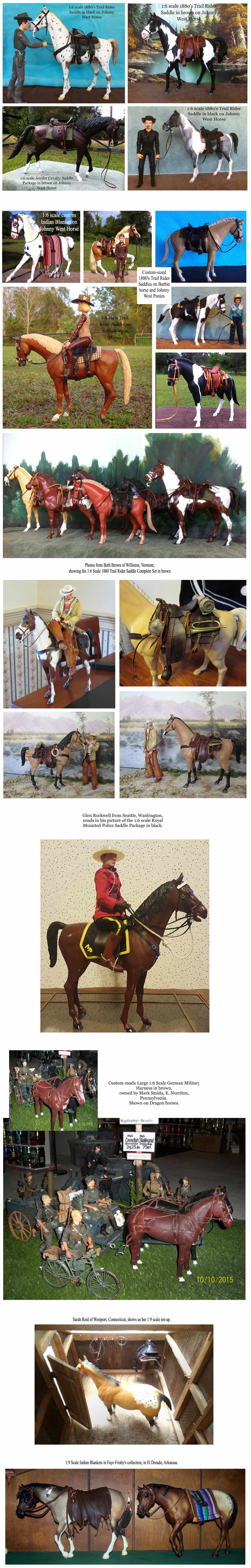 This page features photos from our customers--showing off their tack and accessories from Ben's Custom Tack. If you have some to share, please email to: barbara@benscustomtack.com.
