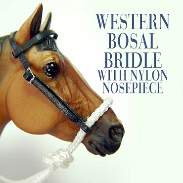 Western Bosal Bridle with Nylon Nosepiece