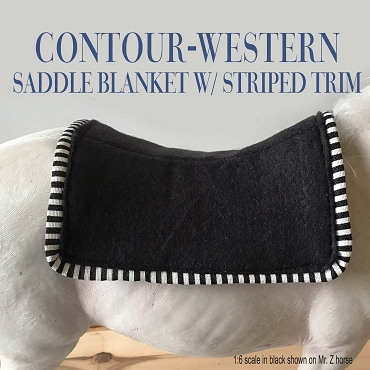 Contour Western Saddle Blanket w/ Striped Trim