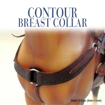 Contour Breast Collar Shown in brown.