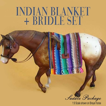 Native American Blanket + Bridle Package