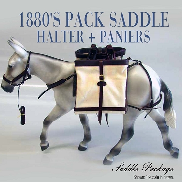 1880's Pack Saddle and Halter Set w/ Paniers