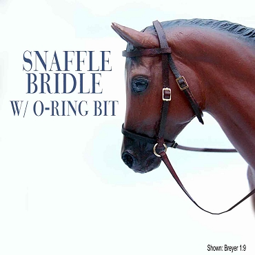 Snaffle Bridle with O-Ring Bit