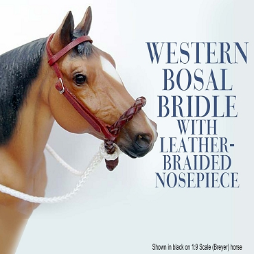 Western Bosal Bridle with Braided Leather Nosepiece