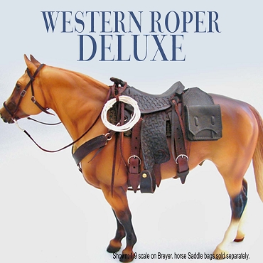 Western Roper DeLuxe Saddle with Basket Weave