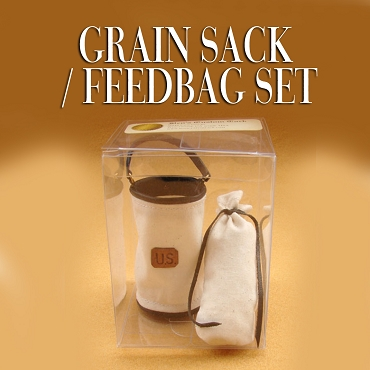 Custom made Grain Sack / Feedbag Set.