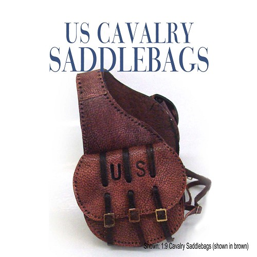 US Cavalry Saddlebags. Shown in Antiqued Brown.