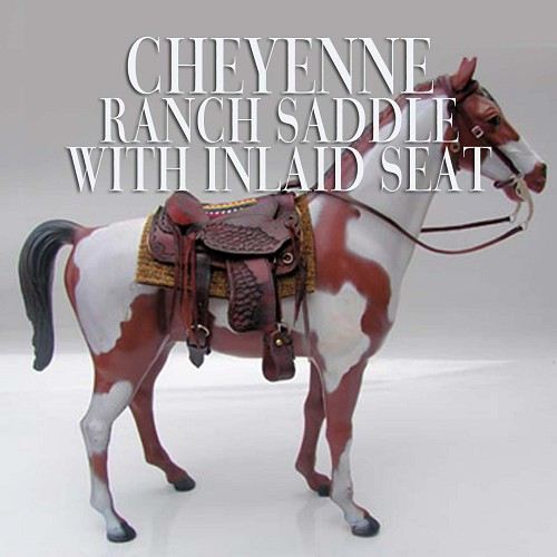 Cheyenne Ranch Saddle with Inlaid Seat